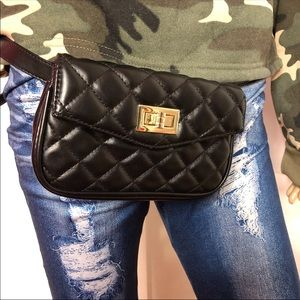 Handbags - Fashion quilted leather fanny pack
